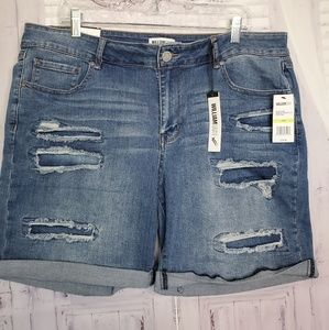 NEW SIZE 18 18W WOMENS PLUS SHORTS JEANS